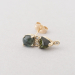 mixed tourmaline diamond stud.