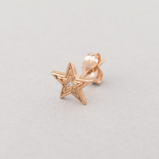 pink gold diamond star