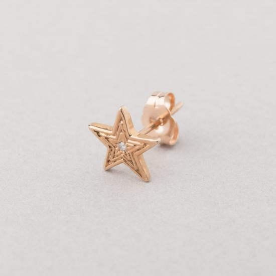 pink gold diamond star