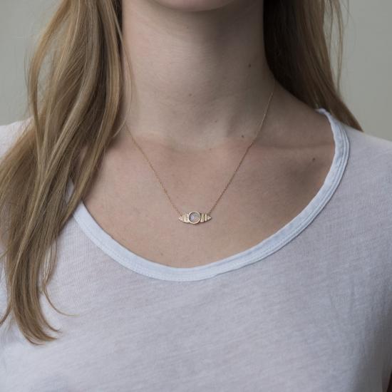 deco moonstone diamond necklace