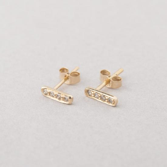 diamond bar earrings studs