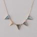 Pyramid labradorite necklace
