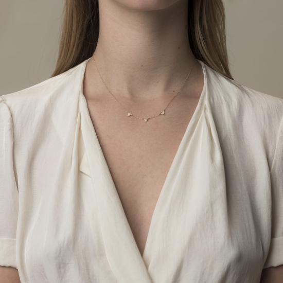 Triangle diamond necklace