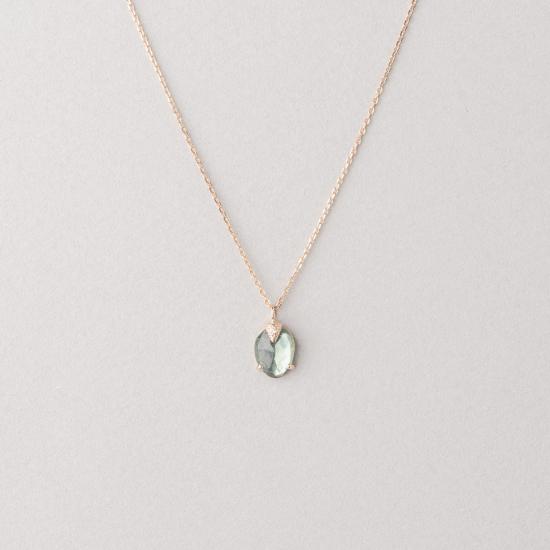 Tourmaline claw necklace