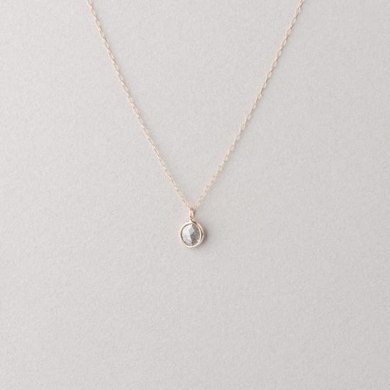 polki grey diamond slice necklace