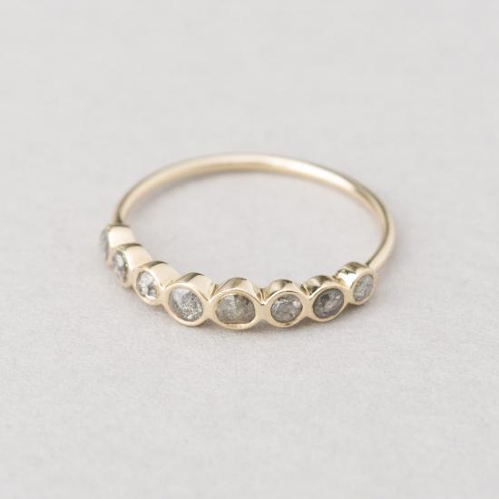 8 rosecut grey diamond ring